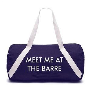 NWT Meet me at the barre duffle